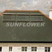 Sistema de colector solar de tubería de calor