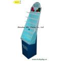 Compras Display de ganchos de papel, carrinho de exposição de ganchos de papelão, caixa de presente, papel despejar Bin (B e C-B001)