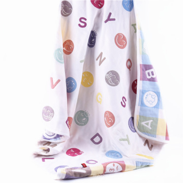 New Design Muslin Animal Design Baby Blanket