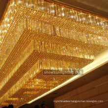 Hotel project modern ceiling mount crystal chandelier