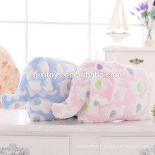 Couverture d'oreiller animal peluche Design Elephant mignon pour les enfants