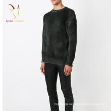 Оптовые мужчины кашемир трикотажные пуловеры зима свитер черный