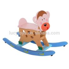 Brinquedos tradicionais Miúdos de madeira Monkey Rocking Horse