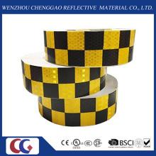 Diseño de rejilla de doble color PVC Rejilla de celosía de cinta de cristal reflectante de 5 cm