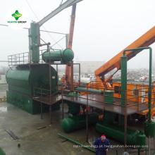 Equipamento de destilação de óleo de plástico óleo de resíduos de óleo de motor de resíduos de resíduos exportados para 50 países