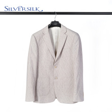 Jaqueta de poliéster de lã britânica com dois botões para homem