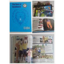 Impression de livre / magazine / brochure de livre relié de conception de client