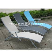 Suntime Garden Aluminum Patio Outdoor Textilene Chaise Lounge