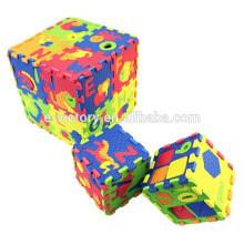 Impressa da espuma de Eva vermelho puzzle jogos letras magnéticas para crianças educação 36pcs alfabeto quebra-cabeça