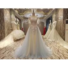 Neue Ankunft 2017 Mehrfarbenheirat-Hochzeits-Kleider mit Schal