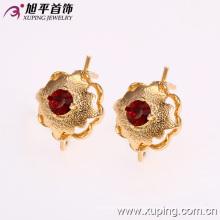 27022 precio de fábrica noble dama joyería flor forma diseño 18 k oro color rhinestone pendiente