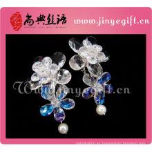 Los más nuevos accesorios para mujer Clean Crystal Flower Vision Cameo Earrings