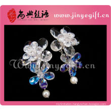 Newest Ladies Accessories Clean Crystal Flower Vision Cameo Earrings