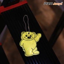 Reflective Bear PVC Keychain For Safety Use