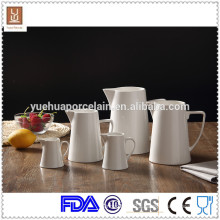 White Ceramic Big Milk Jug / Milk Bottle with 5pcs Different Size