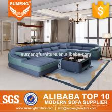 Круглой формы SUMENG 7 сиденье синий ткань диван наборы