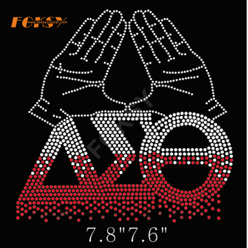 delta sigma theta high heel rhinestone heat press transfers