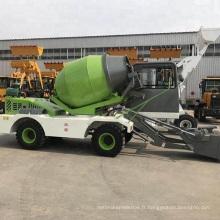 1.8CBM camion malaxeur à chargement automatique