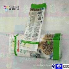4-seitige Abdichtung BOPP Plastikverpackungsbeutel für Nudeln