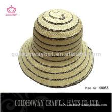 Sombrero corto del cubo del borde de la manera sombreros de la trenza del papel baratos hermosos para la playa del verano de las mujeres