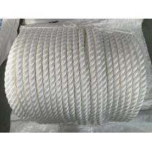 Cuerda de nylon de la cuerda de la amarradura de la cuerda del filamento del polipropileno de 3 filamentos