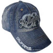 Washed Jeans Cap mit Logo # 05