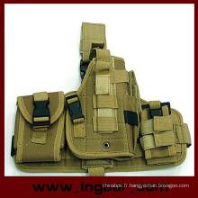 La composante tactique militaire Molle Drop Leg pistolet Holster Combo Holster