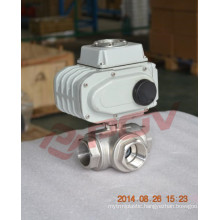 Free bracket thread stainless steel 3-way mtorized ball valves