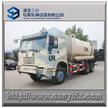 16 Cbm 6X6 Sinotruk HOWO camión de tanque de vacío de succión de aguas residuales