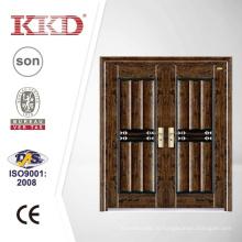 Люкс безопасности двухстворчатые стальные двери KKD-312D