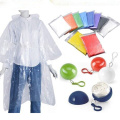Promotional gifts disposable rain poncho in plastic ball