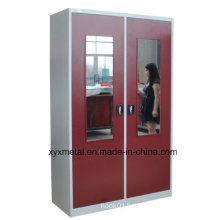 Mirror Face Door Metal Wardrobe Locker
