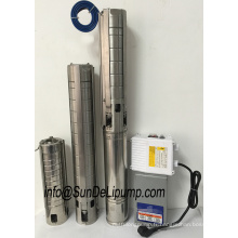 (4SPM3/6-0.37kW) 4 pouces en acier inoxydable acier pompe immergée de puits profonds de l'eau