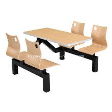 Eine Tabelle Vier Stühle Bankett Sitzplatz Tabelle (FOH-CBC01)