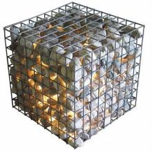 Powder coated woven gabion box