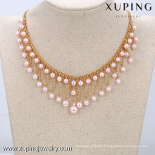 42551-Xuping pearl necklace designs, Women latest bead necklace designs, Fashion Pearl Necklace Jewelry