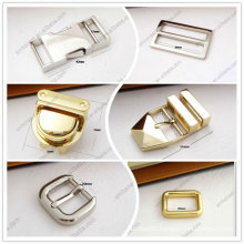 Metal bag buckle, adjustable buckle