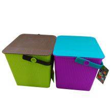 Dos tamaños disponibles de moda cubo de almacenamiento de plástico (B05-0004)