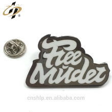 Free design metal silk print enamel custom own logo badges