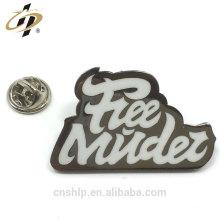 Design livre de seda de impressão de metal esmalte personalizado próprio logotipo emblemas