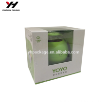 PVC plus paper packaging Box recycled materials laminated material box with window