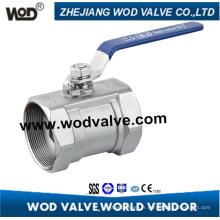 Le fil à l'intérieur 1PC d'acier inoxydable réduisent le robinet à tournant sphérique flottant de port