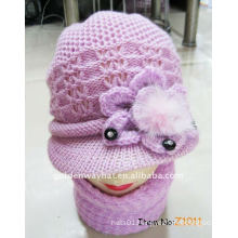 cheap Woolen Knitted visor cap