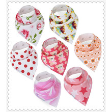 Baby Bandana Drool Bibs,Girls 7-Pack Absorbent Organic Cotton, Cute Baby Gift for Girls