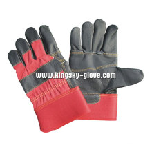 Black Color Patched Palm Furniture Leather Glove