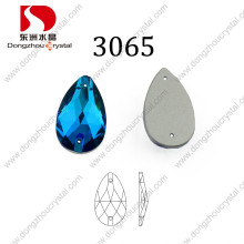 Hot Sale Cheapest Drop Aquamarine Sew on Stone for Wedding Dress
