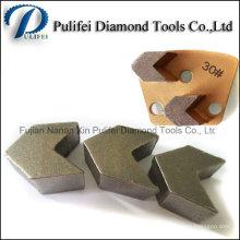 Planchers de meulage à sec Wet Arrow Segment Tools Diamond Grinding Segment