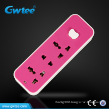 Universal multi plug extension socket/outlet