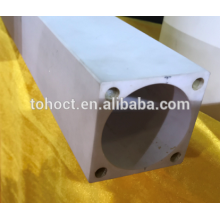 Al2o3 alumine céramique tube rectangulaire tuyau tige