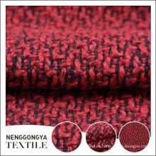 Tela de chenilla roja hermosa de encargo de alta calidad de China para el vestido
